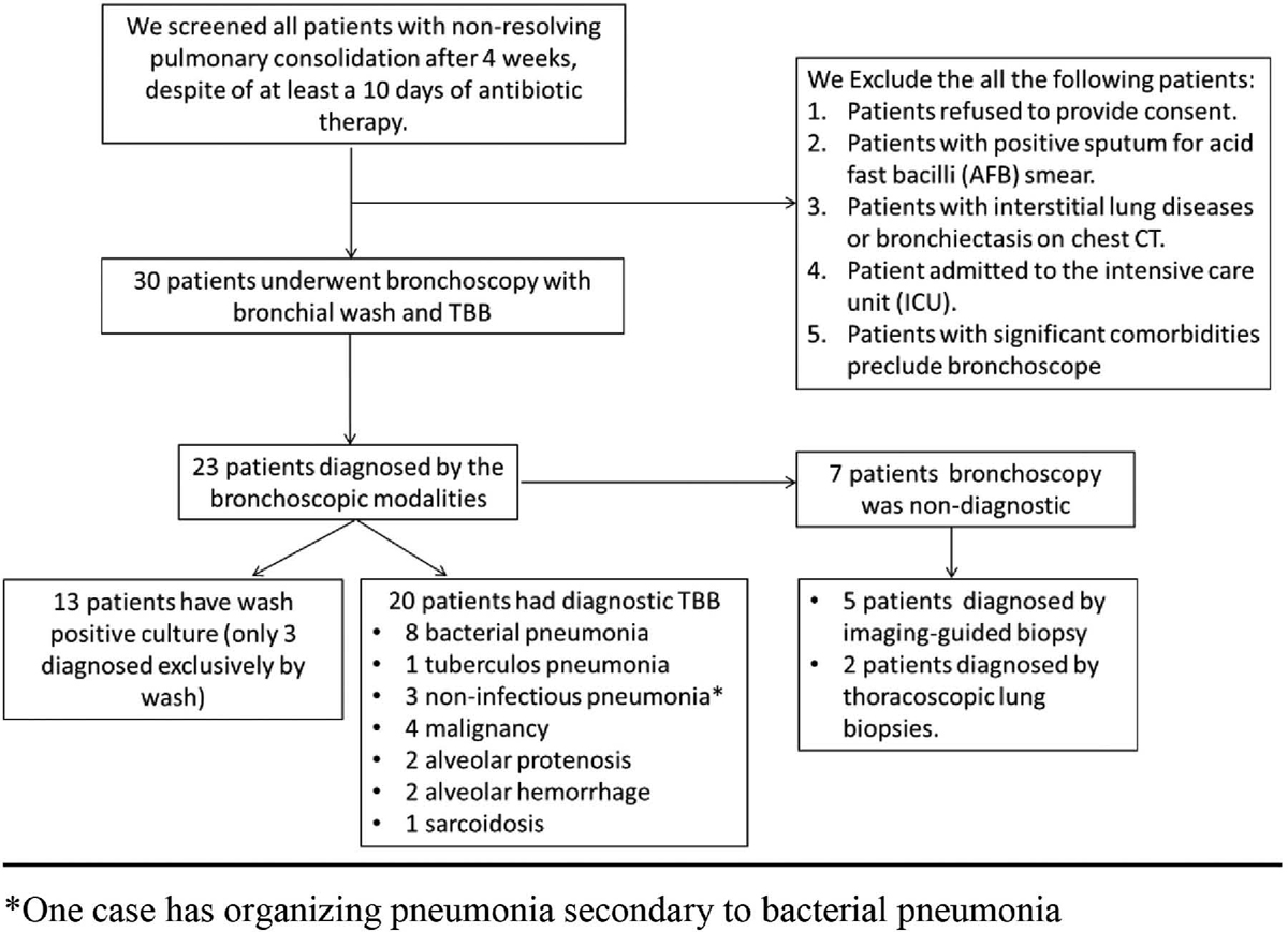 The diagnostic role of conventional bronchoscopy in
